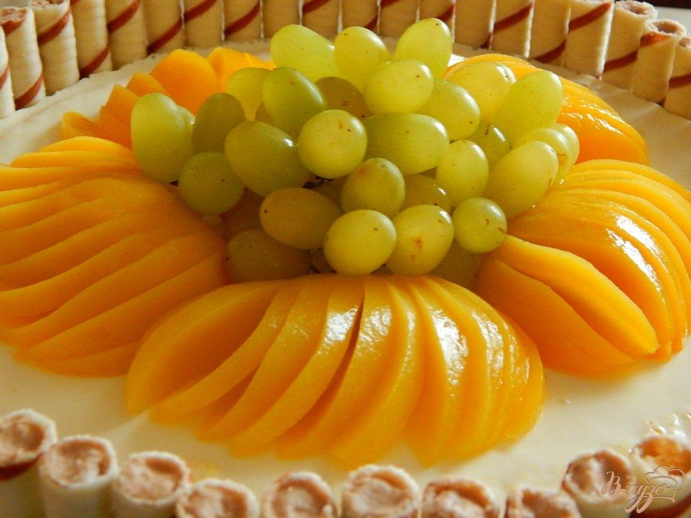 Фото приготовление рецепта: Торт  творожно - фруктовый шаг №14