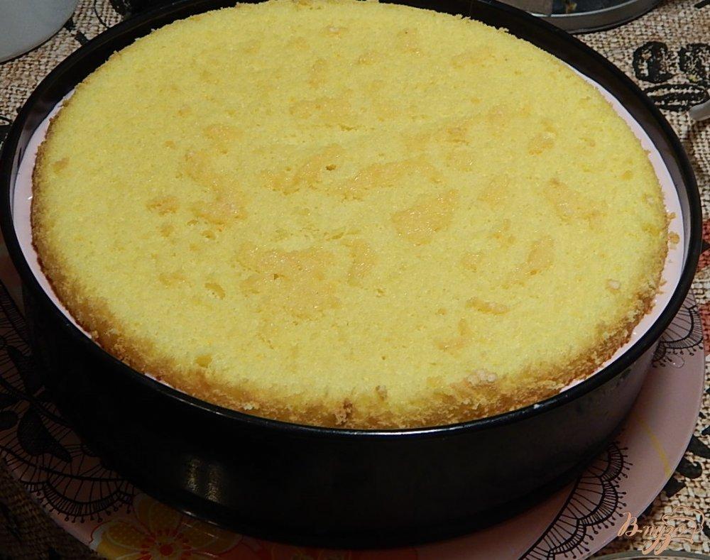 Фото приготовление рецепта: Торт  творожно - фруктовый шаг №9