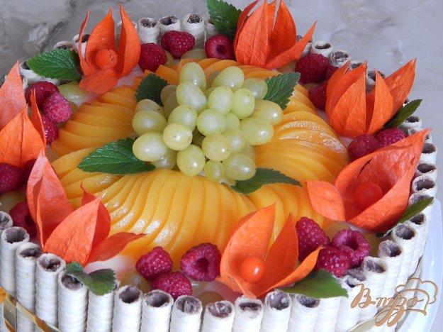 фото рецепта: Торт  творожно - фруктовый