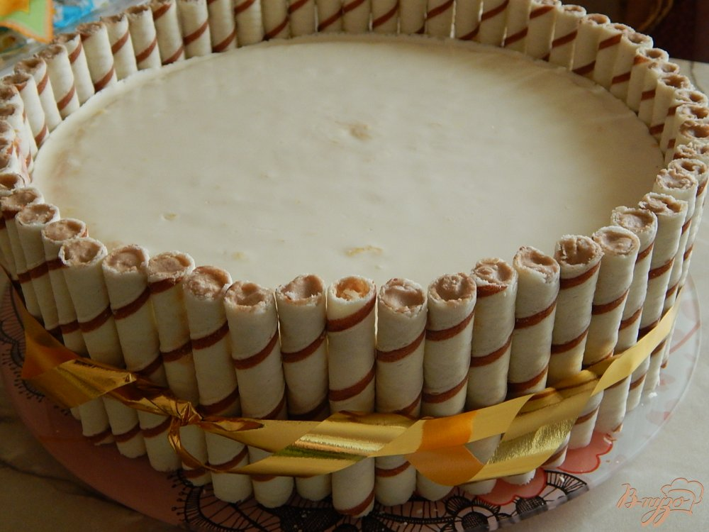 Фото приготовление рецепта: Торт  творожно - фруктовый шаг №13