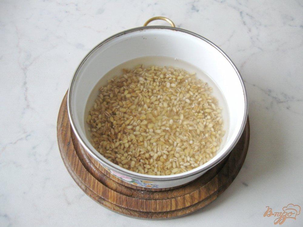 Фото приготовление рецепта: Суп с перловкой и лесными грибами шаг №2