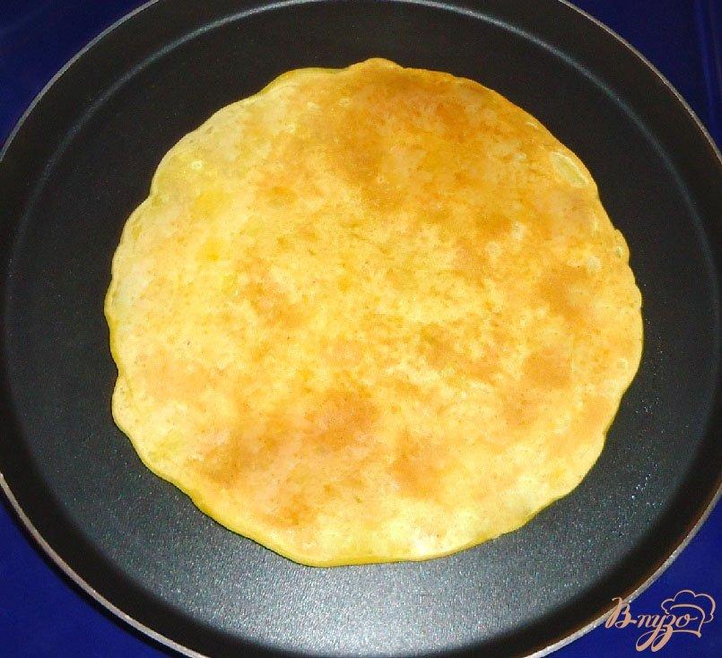 Фото приготовление рецепта: Тыквенно-миндальные блины шаг №8