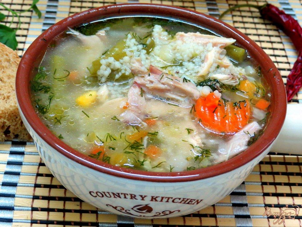 Фото приготовление рецепта: Суп овощной с кус - кусом шаг №9