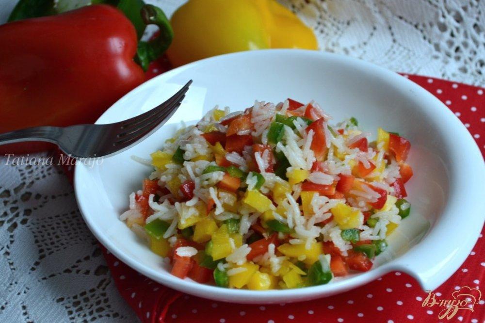 Как сделать салат из перца и риса 988