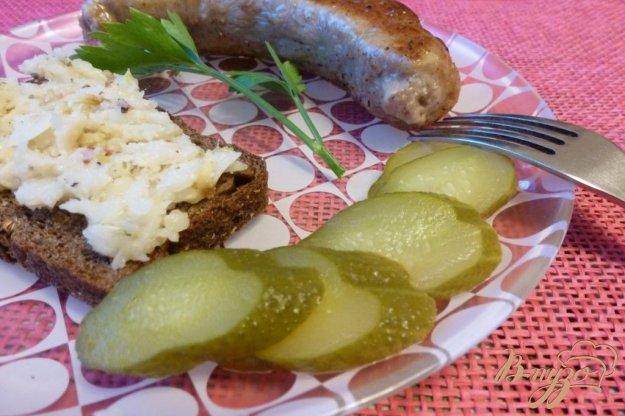 фото рецепта: Домашние колбаски с чесночным паштетом