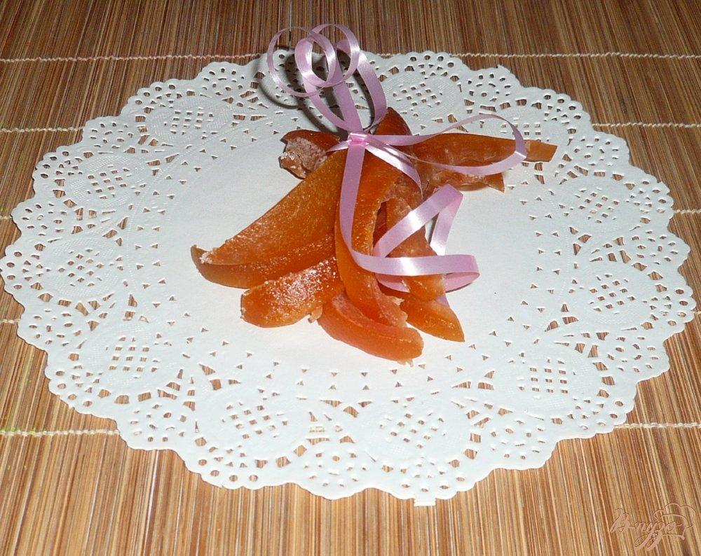 Фото приготовление рецепта: Цукаты из корок грейпфрута шаг №13