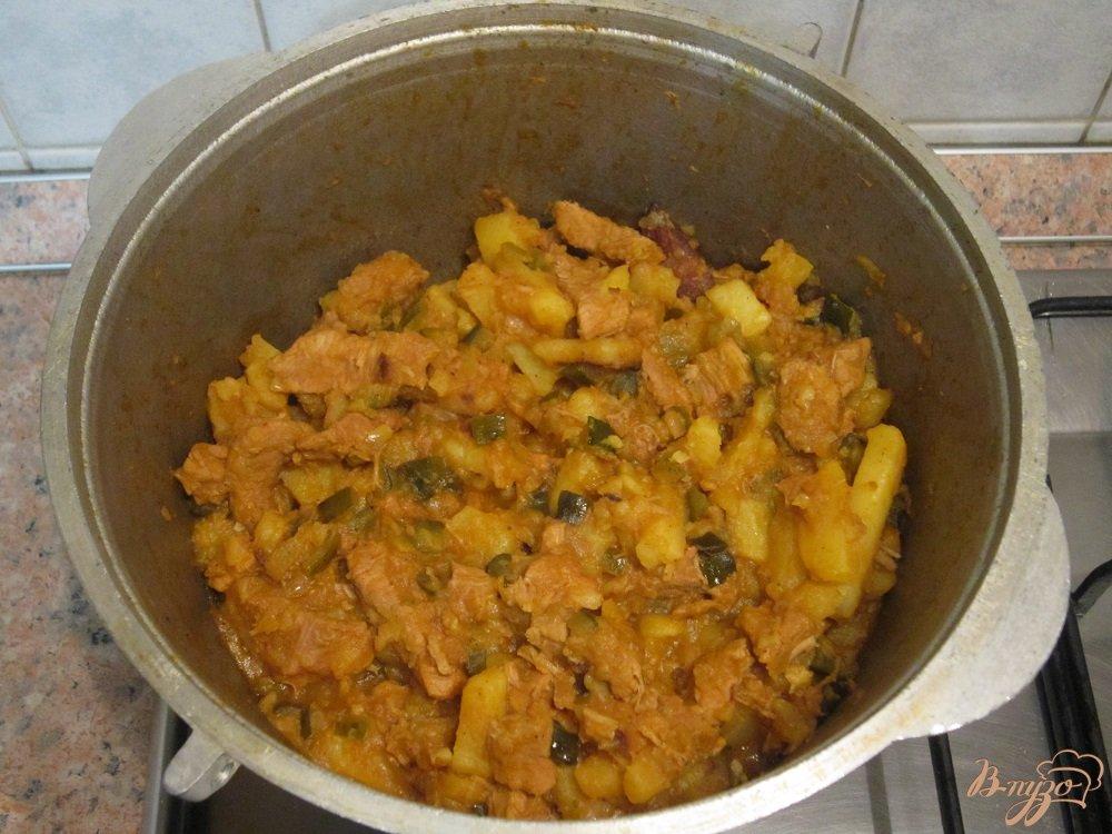 Фото приготовление рецепта: Азу по-татарски шаг №10