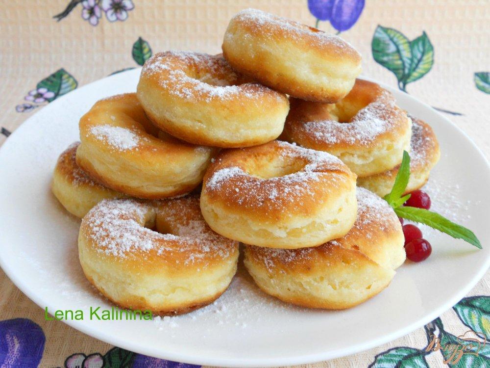 Фото приготовление рецепта: Пончики из плавленного сыра шаг №6