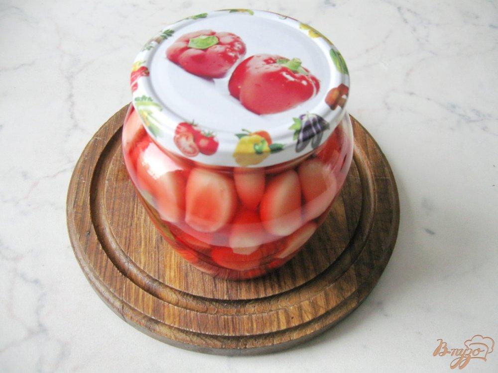 Фото приготовление рецепта: Чеснок маринованый на зиму. шаг №7