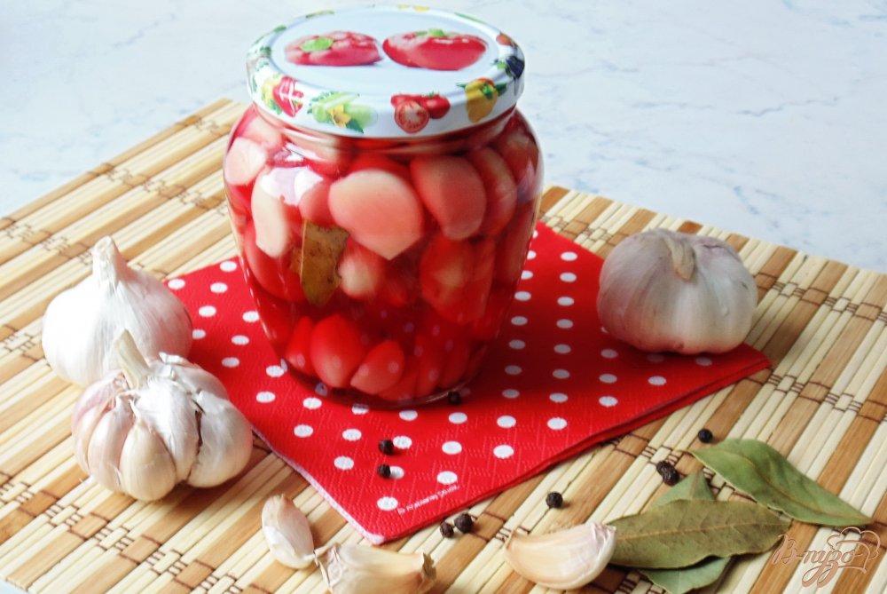 Фото приготовление рецепта: Чеснок маринованый на зиму. шаг №8