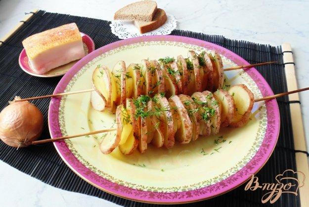 картофель на шпажках в духовке фото рецепты