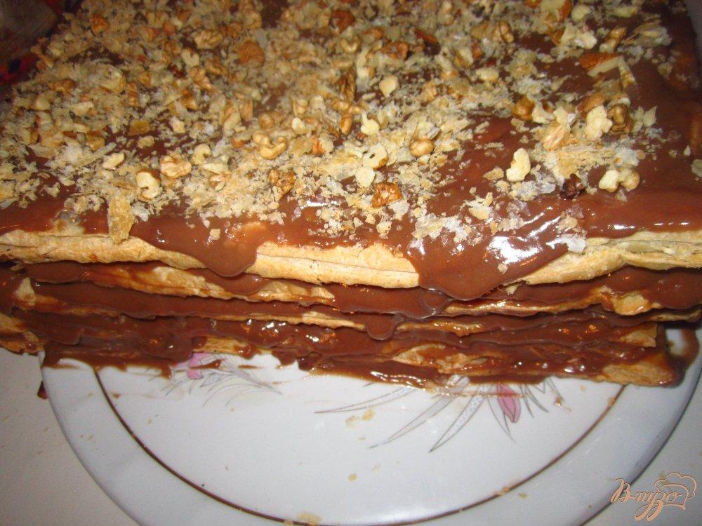 Фото приготовление рецепта: Шоколадный наполеон шаг №6