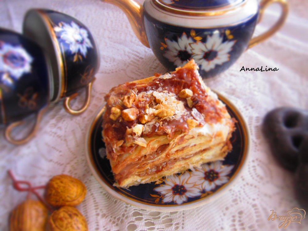 Фото приготовление рецепта: Шоколадный наполеон шаг №7