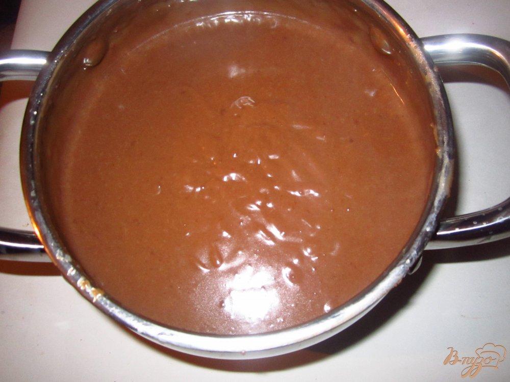 Фото приготовление рецепта: Шоколадный наполеон шаг №4