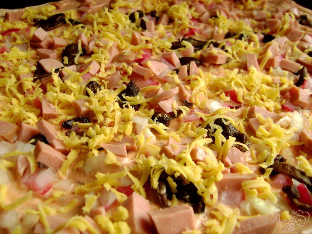 домашняя пицца в духовке рецепт с колбасой