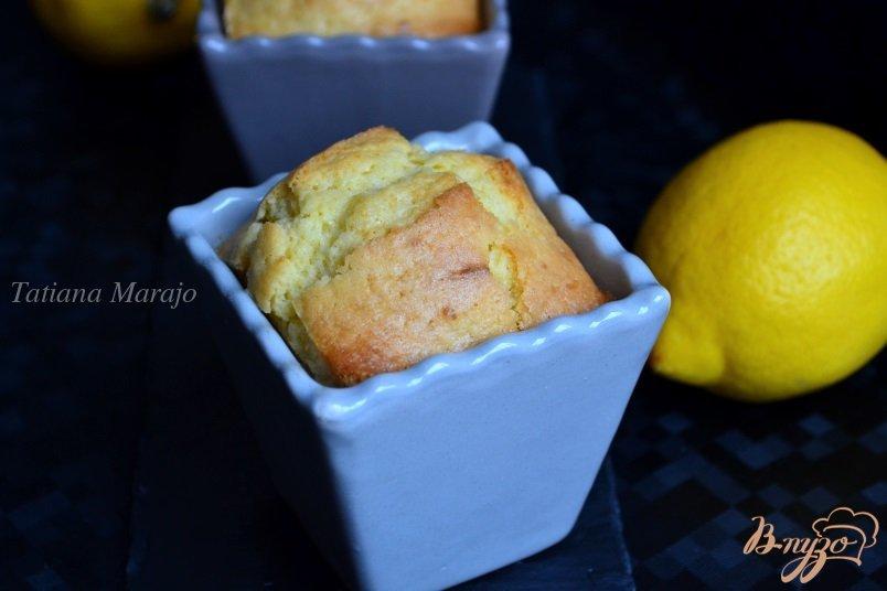 Фото приготовление рецепта: Лимонные кексы шаг №8