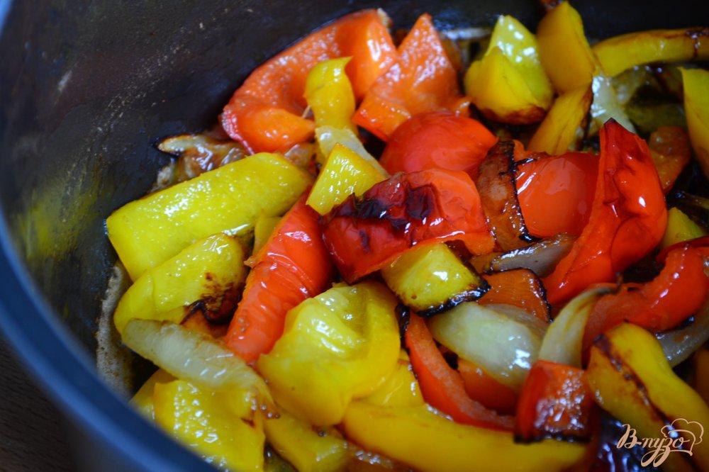 Фото приготовление рецепта: Нутовый суп пюре со сладким перцем шаг №2