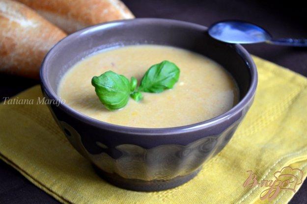 фото рецепта: Нутовый суп пюре со сладким перцем