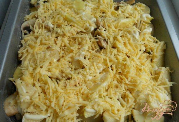 Картофель по-французски с грибами и яблоками
