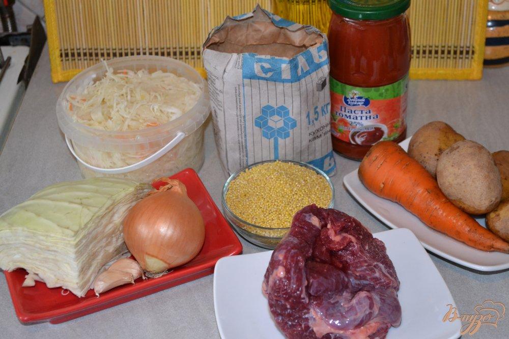 Фото приготовление рецепта: Капустняк с говядиной в мультиварке шаг №1