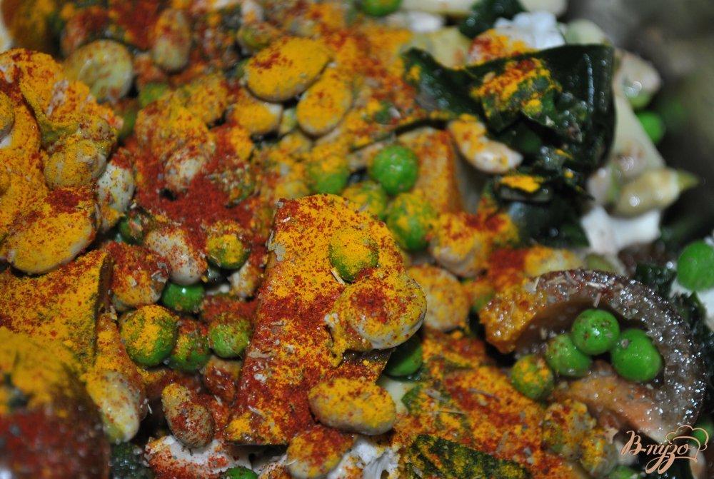 Фото приготовление рецепта: Овощное рагу шаг №7