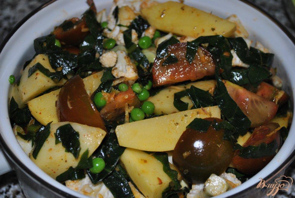 Фото приготовление рецепта: Овощное рагу шаг №9
