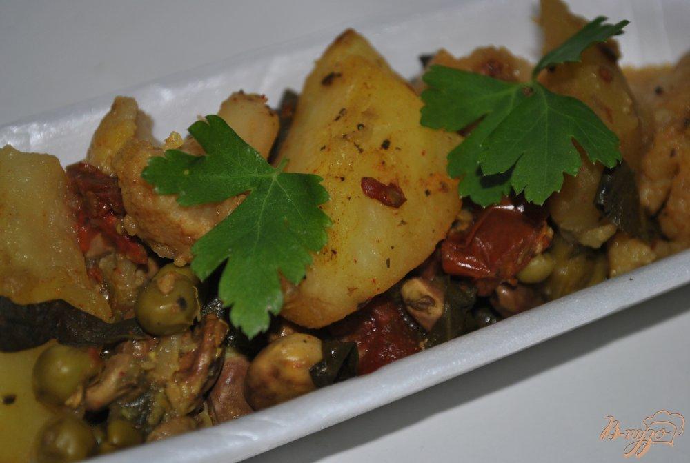 Фото приготовление рецепта: Овощное рагу шаг №10