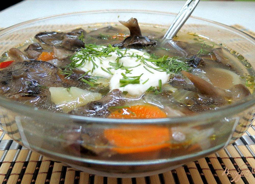 Фото приготовление рецепта: Суп из опят шаг №10