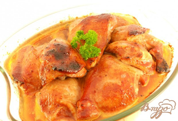 Куриные окорочка, запеченные в соевом соусе