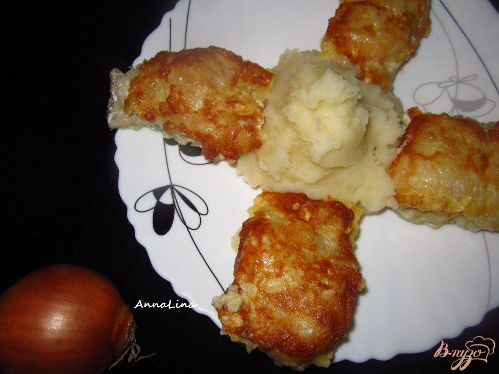 Фото приготовление рецепта: Минтай жареный в горчице шаг №4