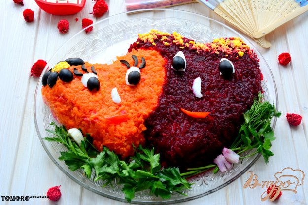 салат два сердца рецепт с фото пошагово