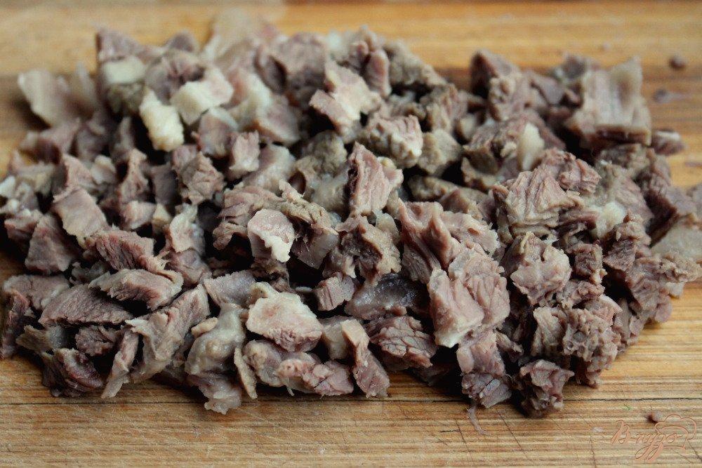 Фото приготовление рецепта: Салат с бараниной шаг №1