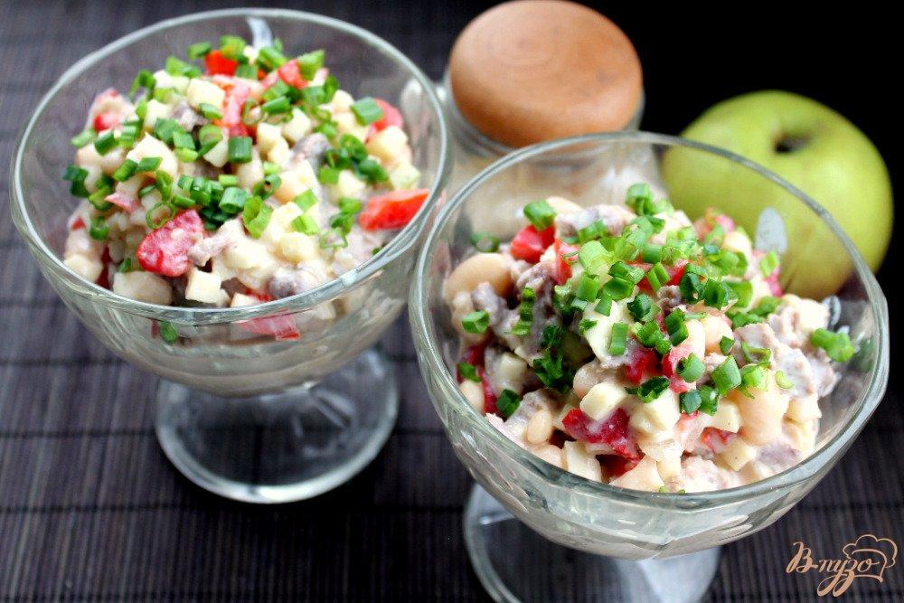 Фото приготовление рецепта: Салат с бараниной шаг №8