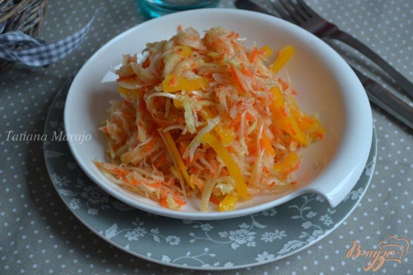 Фото приготовление рецепта: Капустный салат с горячей заправкой шаг №6