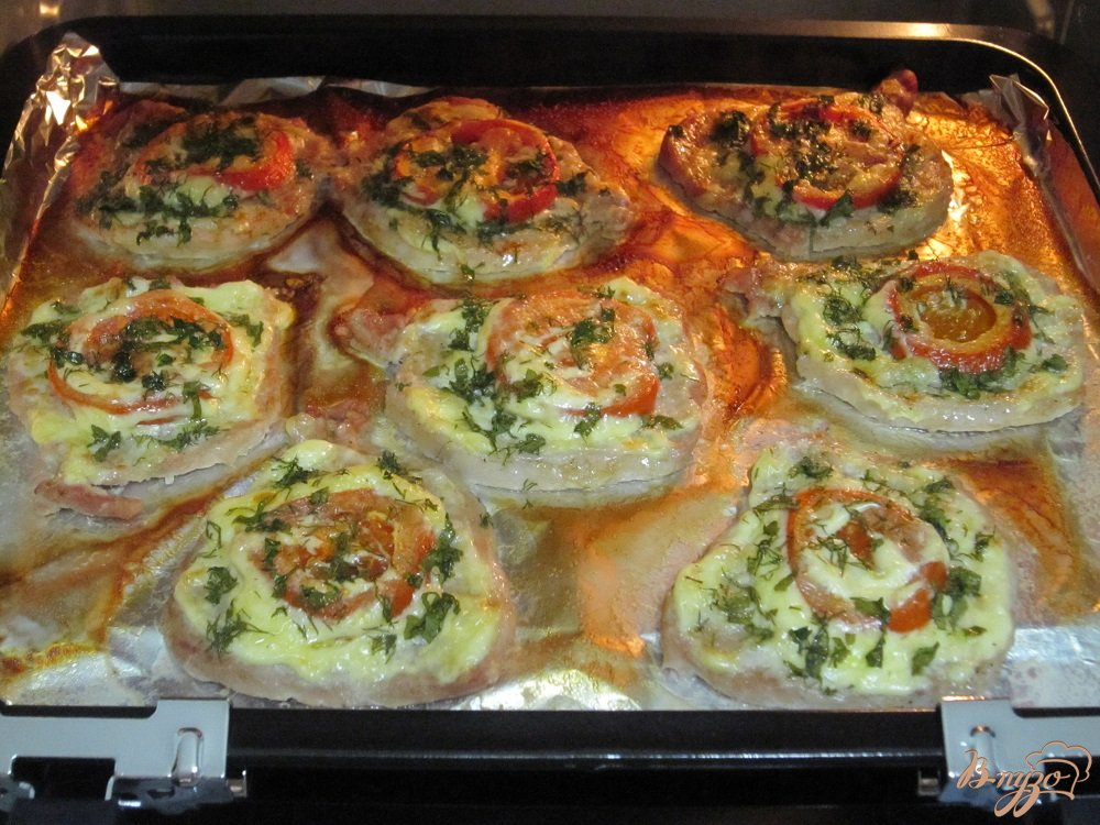 Фото приготовление рецепта: Свиные отбивные с овощами шаг №9