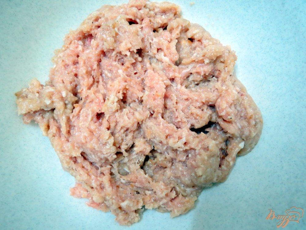 Фото приготовление рецепта: Запеканка мясо грибная шаг №3