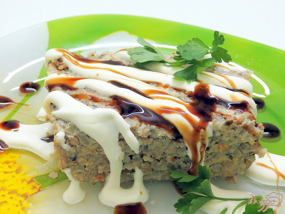 Фото приготовление рецепта: Запеканка мясо грибная шаг №10