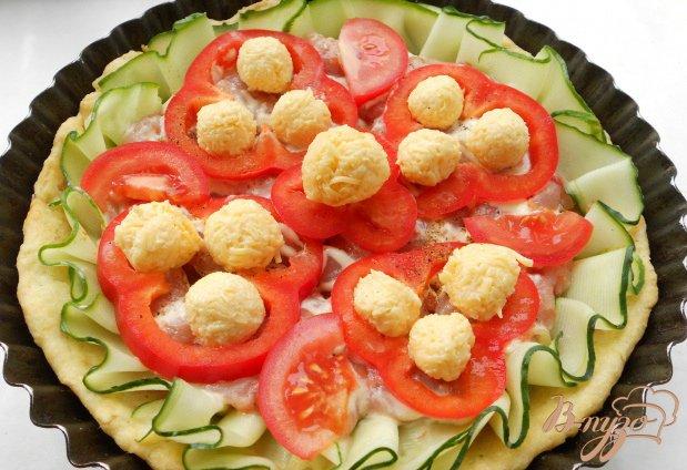 Пирог из песочного теста с курицей и овощами