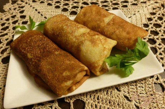 фото рецепта: Блины с мясом и картофелем