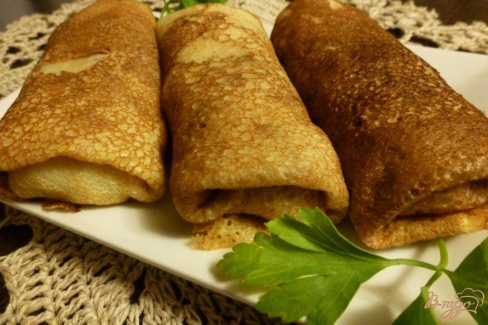 Фото приготовление рецепта: Блины с мясом и картофелем шаг №7