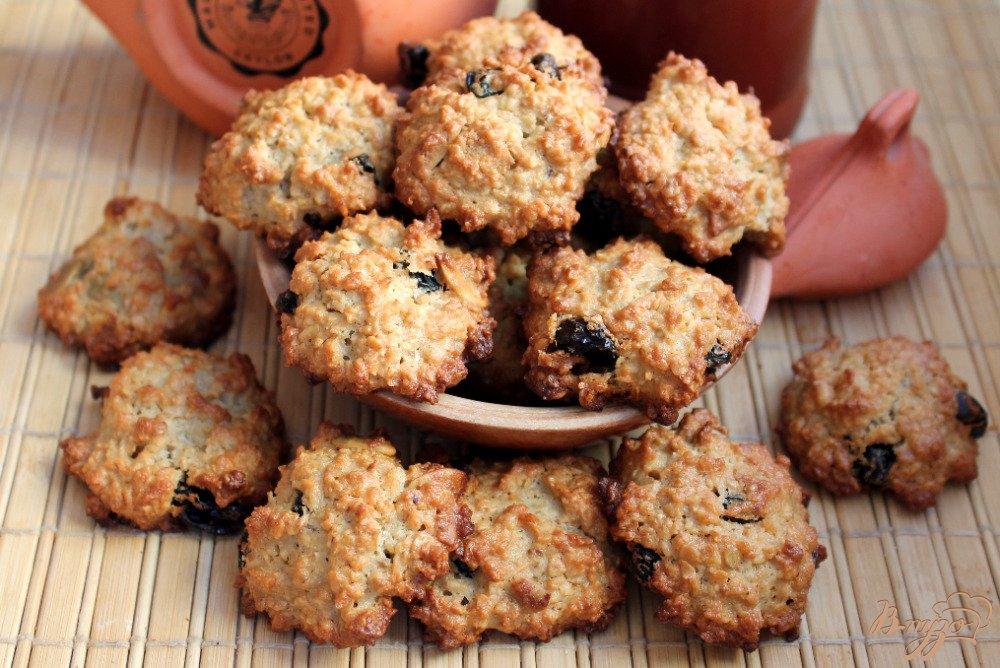 рецепт быстрого овсяного печенья с изюмом и орехами