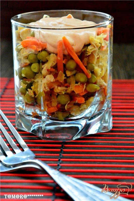 Веррины с овощами и куриной грудкой