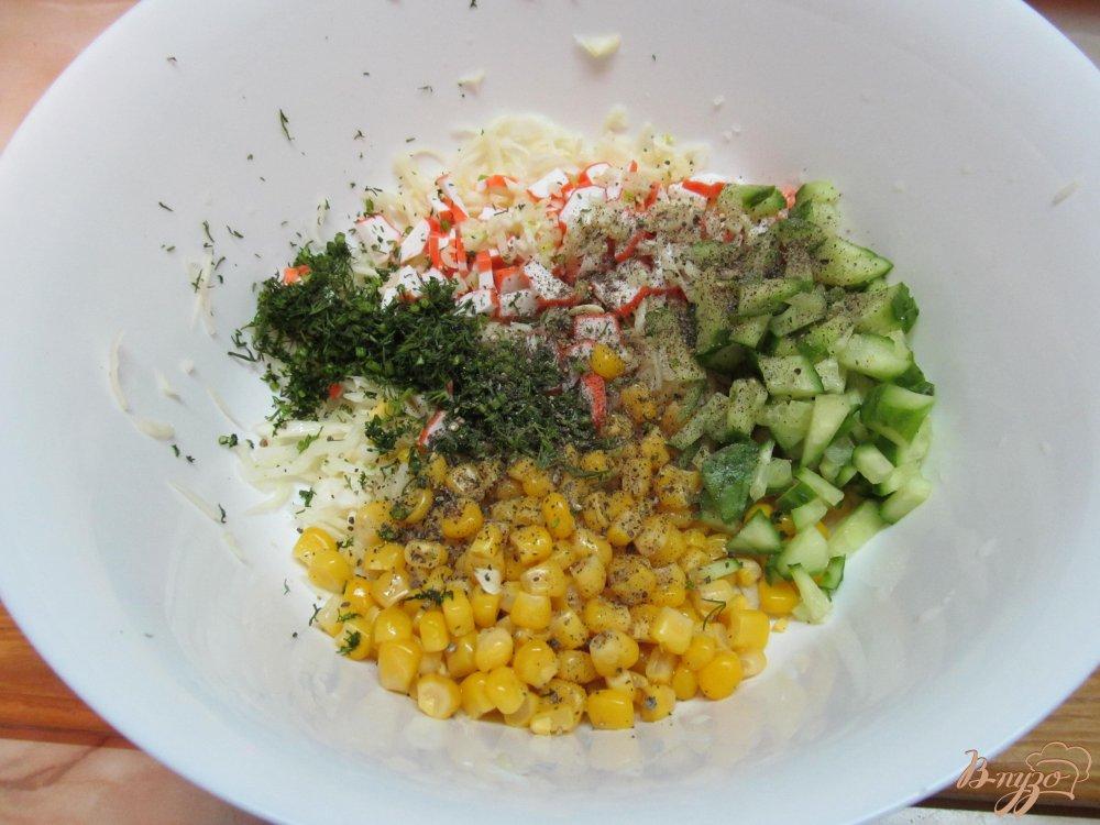 салат из капусты кукурузы и огурца