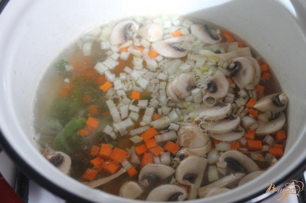 Фото приготовление рецепта: Легкий супчик с овощами шаг №4