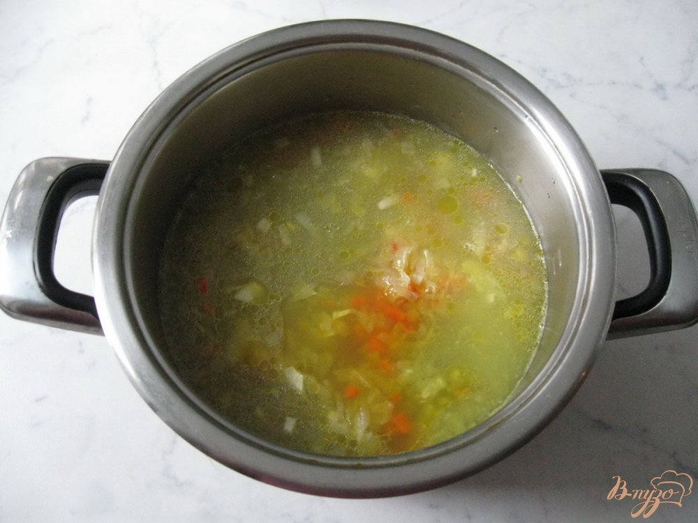 Фото приготовление рецепта: Суп из сухого зеленого гороха шаг №7