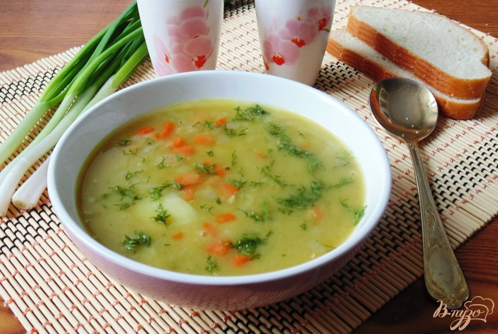 Фото приготовление рецепта: Суп из сухого зеленого гороха шаг №9
