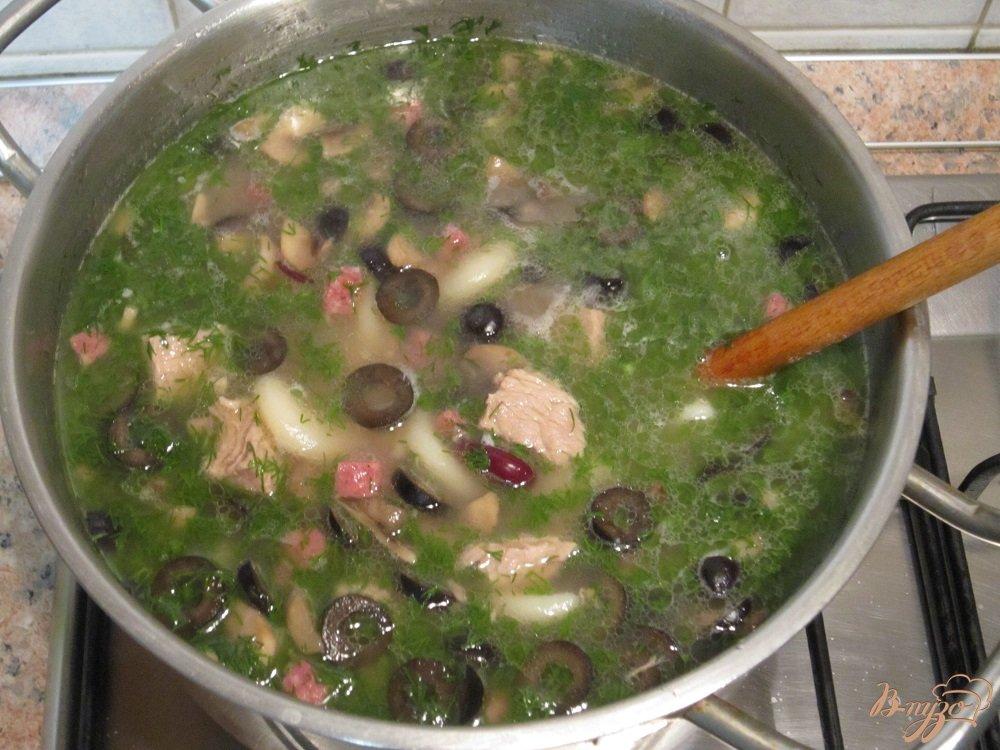 Фото приготовление рецепта: Суп по-итальянски шаг №8