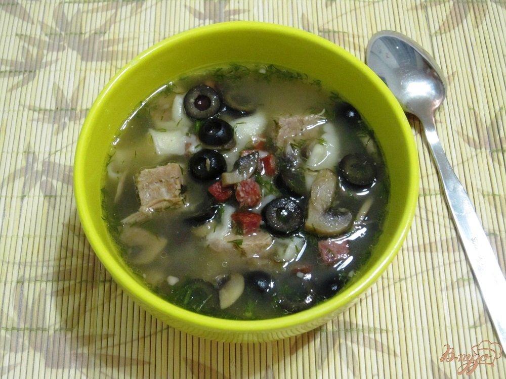 Фото приготовление рецепта: Суп по-итальянски шаг №9