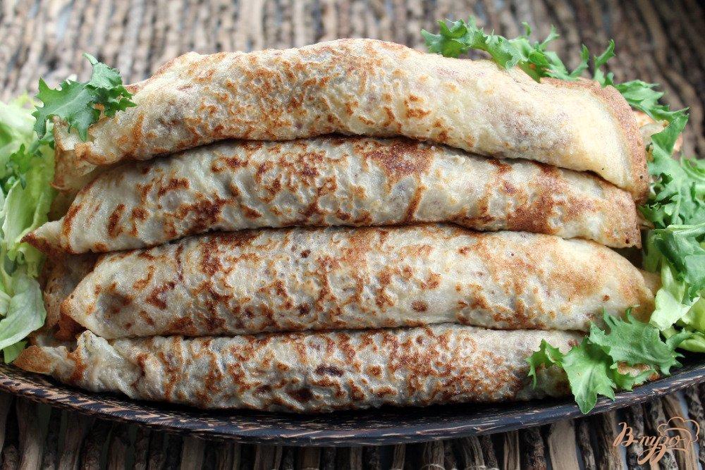 Фото приготовление рецепта: Блины с грибами и картофелем шаг №8