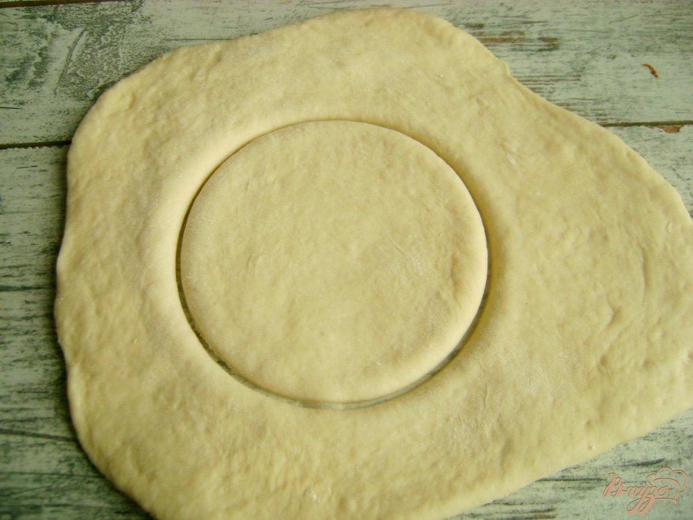 Фото приготовление рецепта: Треугольнички с тыквой и бананами шаг №5
